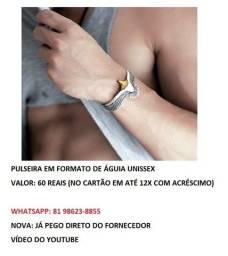 pulseira em formato de águia unissex