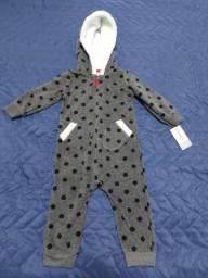 Macacão Pijama Carter's Fleece 12 meses