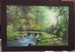 Lindo quadro com gravura 103 x 73cm - Oportunidade