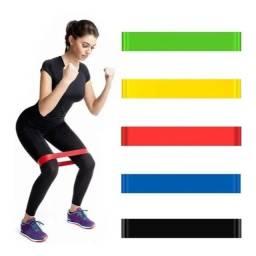 Título do anúncio: Kit 5 Mini Band Elastico Exercicio Academia Treino Em Casa