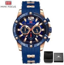 Relógio 100% Original Mini Focus Todo funcional de Aço inoxidável > EM ATÉ 12X NOS CARTÕES