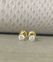 Brinco diamante ouro 18k
