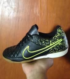 Tênis Futsal Nike Tiempo Couro Original