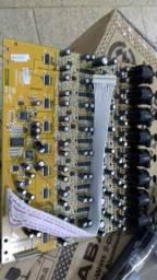 Placa de input da mesa behringer x32 digital e compacta. 8 canais zerada
