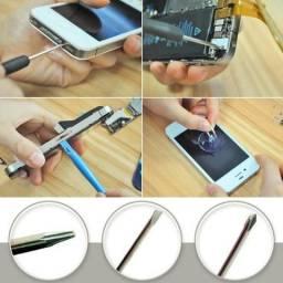 Kit para Abrir Celulares Iphone Asus Samsung Sony LG - Chaves + Ventosa + Espátulas
