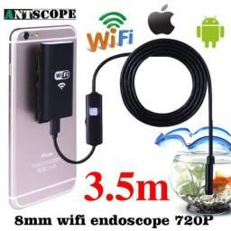 Câmera Inspeção Endoscópica Wifi E Cabo 5 metros Iphone Ipad