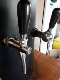 Chopeira- 2 vias alta vasão- torneira belga-manometro-cilindro co2