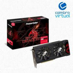 Placa De Vídeo Rx 570 4gb Dragon Powercolor 4gbd5-3dhd/oc