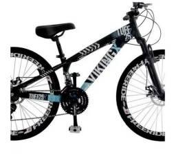 Bicicleta Aro 26 Freio A Disco 21 Velocidades Cambios Shimano Preta/Azul Viking