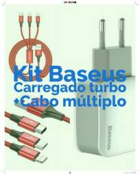 Kit Baseus Carregador turbo + Cabo