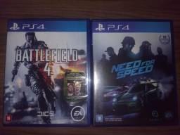 Battlefield 4 e Need for Speed Originais, nenhum risco nos cd's