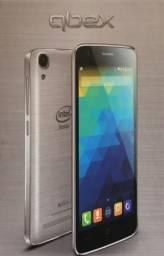 Smartphones Qbex Intel X Gray Prata Intel Inside novo na caixa R$ 419