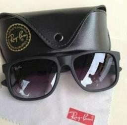 2db77eef48385 Vendo ou troco Óculos de sol RayBan original modelo Justin NOVO com NF  Valor 300 avista