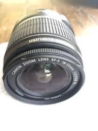 Lente Canon 18-55mm e outros itens