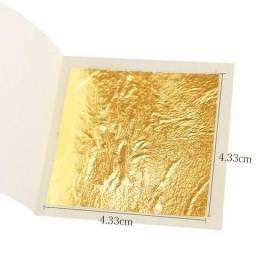 Kit 4 Folha de ouro 24k Artesanal Comestível