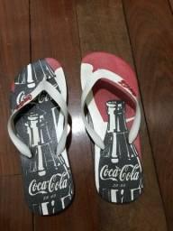 Chinelo coca-cola 39
