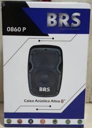 Caixa Ativa Amplificada 8 Polegadas 0860p Brs 60w C/bateria