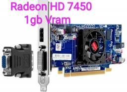 Placa de video 1gb Radeon HD 7450
