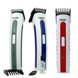 Maquina Portátil Cortar Cabelo, barba e bigode - Recarregável 110V/220V Nova - Maquininha