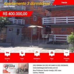 Apartamento 3 dormitórios para Venda em Pelotas, Centro, 3 dormitórios, 1 suíte, 2 banheir