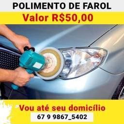Restaure O Farol do Seu<br>Carro!!! Deixe-o com<br>aquele brilho e aparëncia<br>de novo.