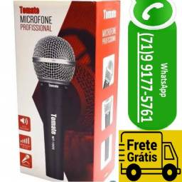 Microfone Profissional Com Fio 5 Metros Dinâmico (NOVO)