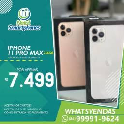 Iphone 11 PRO MAX (4G, 256GB) GOLD/VERDE OU CINZA - GARANTIA 1 ANO * LACRADO *