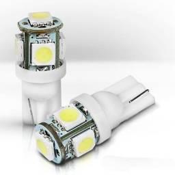 Lâmpada pingo encaixe T10 (w5w) com 5 LEDs