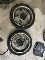 Par de roda da fazer 250cc 16 zera