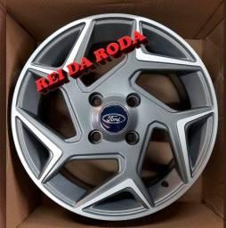 Jogo de Rodas Modelo Ford New Fiesta - Original - ARO15