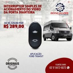 INTERRUPTOR SIMPLES DE ACIONAMENTO DO VIDRO DA PORTA ORIGINAL FORD TRANSIT