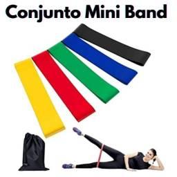 Elástico Mini Band com 5 intensidades