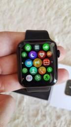 Smartwatch w26 preto + pulseira nike