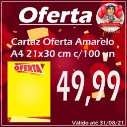 Cartaz oferta A4 21x30cm c/100