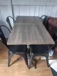 Título do anúncio: Conjunto de mesa ! Pé de ferro