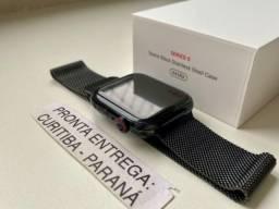 Apple Watch Series 5 (Lte) - 44mm - aço inoxidável Pulseira milanês Preta (Usado).