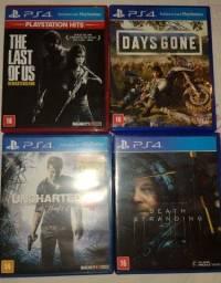 Título do anúncio: Combo de 4 Jogos para PS4/PS5 por R$ 180