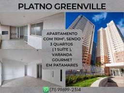 Platno Greenville, 3 quartos em 110m² com 2 vagas em Patamares - Formoso