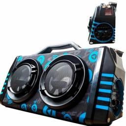 Título do anúncio: Caixa de Som Bluetooth Big Fox Led Sem Fio XTRAD XDG-37 FM