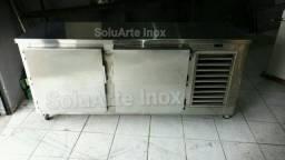 Título do anúncio: Balcão refrigerado em Aço  Inox com sistema frost free feito por medida