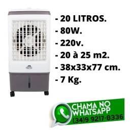 Título do anúncio: Climatizador de Ar - Reservátorio 20 litros - 3 Velocidades - 220v - Novo