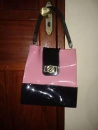 Bolsa Petit Jolie preto/rosa