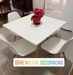 Título do anúncio: Conjuntos de jantar mesa 90cm c/ 4 cadeiras Eiffel