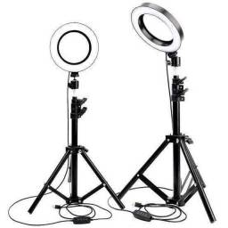 Iluminador RING LIGHT 26 cm com Tripé  + suporte central ???