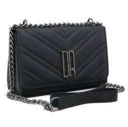 Título do anúncio: bolsa feminina pequena transversal alça de corrente reforçada cor preta nova