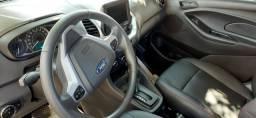 Ford Ka sedã cor cinza com 4.800 km