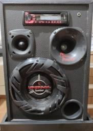 Caixa de som top, com som PIoneer (com entrada para CD e USB)
