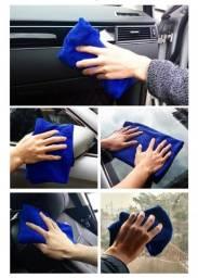 Título do anúncio: 10 Pano limpeza automotiva 70*30cm absorção de água sem rastros micro fibra