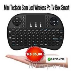 Mini Teclado Sem Led Sem Fio Wireless Pc Tv Box Smart Note Xbox Ps3, 4