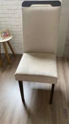 Título do anúncio: Cadeira bege em suede
